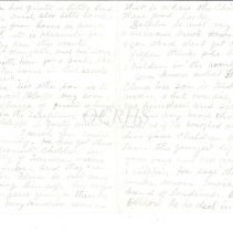 Image of Lucinda Arthur Letter Pages 2 and 3