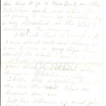 Image of Lucinda Artur Letter Page 4