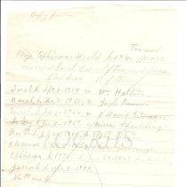 Image of Genealogy of Ephraim Heald - Notes Page 4