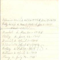 Image of Genealogy of Ephraim Heald - Notes Page 5
