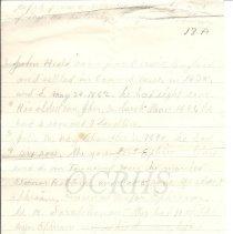 Image of Genealogy of Ephraim Heald - Notes Page 1