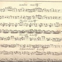 Image of Fiddler's Tune Book Manuscript 1872 Sample Page