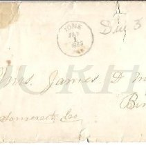 Image of Letter from James D. Milliken 1882 - Ione CA