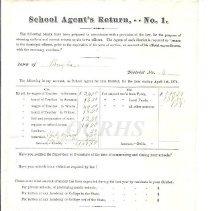 Image of School Agent's Return No. 1, Bingham 1874