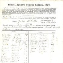 Image of School Agent's Fiscal Return 1876 Bingham - 2010.7.35