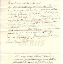 Image of Washington McIntire Letter - Inside
