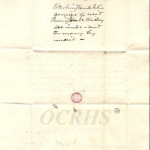 Image of Washington McIntire Letter to Barrows, Exterior