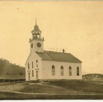 Image of Old Free Meeting House at Bingham ME, Early Photograph - 2010.7.48