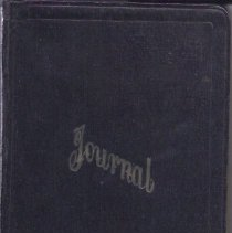 Image of Journal Book of Deaths Recorded by Abbie Spaulding - 2011.32.28