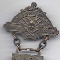 Image of Knights Templar 50th Anniversary Pin 1915