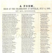 Image of A Poem, by Miford Goodrich, July 4,1865 - 2011.8.63.12