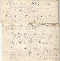 Image of John Owens Family Record - 2011.8.63.8
