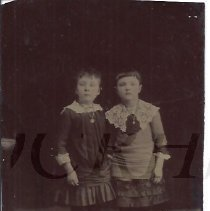 Image of Florence Milliken and Georgie Colby - Tintype - 2012.13.106
