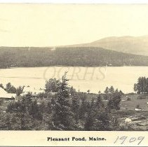 Image of Pleasant Pond, Maine 1909