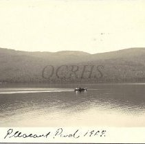 Image of Boat on Pleasant Pond, 1909 - 2012.13.82