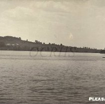 Image of Rowboat on Pleasant Pond 1911