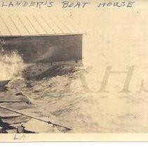 Image of John Lander's Boathouse at Pleasant Pond 1912 - 2012.13.89