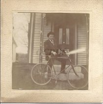 Image of Walter Robinson and His Bicycle - 2012.31.30