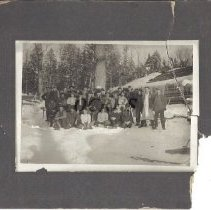 Image of Logging Crew and Camp - Robinson - 2012.31.33