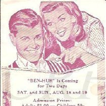 Image of Colby Theatre Handbill, ca. August 1962 - 2013.8.1