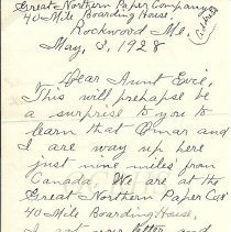 Image of Letter from Addie Moore Cates, Rockwood ME to Mrs. James W. Stewart, Caratunk ME - 2014.16.6