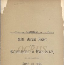 Image of Ninth Annual Report of the Somerset Railway - 2015.10.29