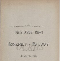 Image of Tenth Annual Report of the Somerset Railway 1894 - 2015.10.30