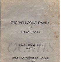 Image of The Wellcome Family of Freeman, Maine - 2015.16.1