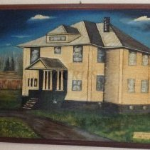 Image of Bingham High School, Paiting by Moore