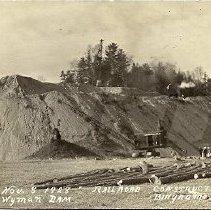 Image of Wyman Dam Construction Photograph 1928 Railroad - 2015.22.18