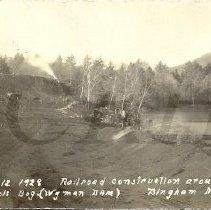 Image of Wyman Dam Construction Photo, Nichols Bog RR 1928 - 2015.22.20