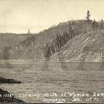 Image of Wyman Dam Site Looking North, 1928 - 2015.22.21