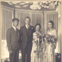 Image of Wedding of Myrna E. Foss and Oscar E. Skofield, 1931 - 2015.23.56