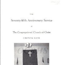 Image of 75th Anniversary Program of the Caratunk Church