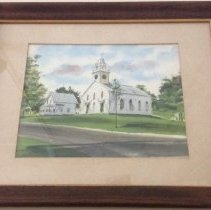 Image of Old Free Meeting House, Watercolor