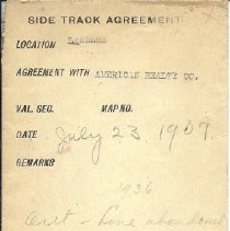 Image of Envelope for Landers Siding, Somerset RR Documents
