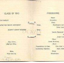 Image of West Forks Graduation Program, 1913