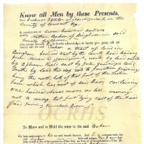 Image of Amos Fletcher Deed to Nathan Baker 1829 - 2017.7.33