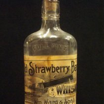Image of Bottle - Old Strawberry Bank Whiskey Bottle
