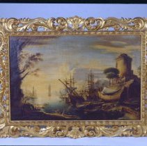 Image of Painting - Port Scene with Sailing Vessels