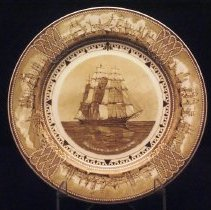 "Image of Plate, Commemorative - ""Witch of the Wave."""