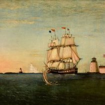 Image of Painting - Entrance to Portsmouth, N.H., Harbour