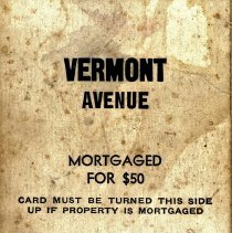 Image of Game, Card - Vermont Ave.