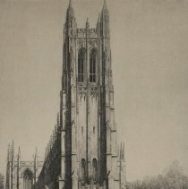 Image of Duke University, Durham, NC -The Chapel by Louis Orr