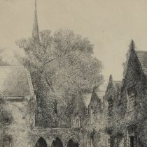 Image of Christ Episcopal Church, The Cloister, Raleigh, NC by Louis Orr