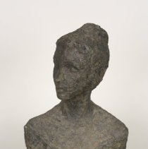 Image of Sculpture - The surface character (texture) of this piece was probably selected by Monroe to express her conception of the subjects character and physical features.