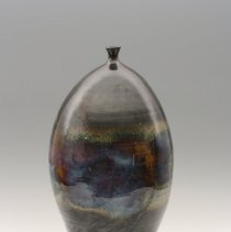 "Image of Ceramic - Morrow, from Laurinburg, NC, studied in Perugia, Italy and received an MFA degree from the University of North Carolina at Greensboro. Her ceramics evolve in series- Iris Vases, Lidded Forms, ect. She states that her work ""is constantly changing and progressing...the creative process is always a learning process."""