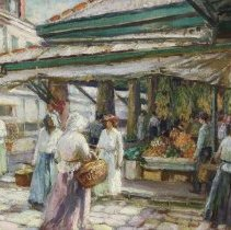 Image of Old French Market, New Orleans by Robert W. Grafton