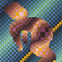 Image of Harlequin Sportif by Victor Vasarely