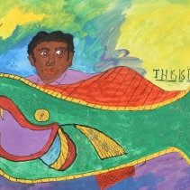 Image of Folk Art - Luster Willis (1913-1994) was born in Hinds County, Mississippi and lived a life filled with various jobs: barber, farmer, woodcutter, and spent three years in Europe in World War II. Willis began drawing and painting his imaginative thoughts at a very young age, drawing humorous images of classmates and objects around him. Often, Willis would begin to draw or paint abstractly until it evoke a memory, and then he would develop it further. Willis had a stroke during the last part of his life and spent the last decade of his life paralyzed in a wheelchair.